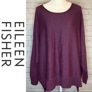 Eileen Fisher Woman l Plum Organic Cotton Sweater